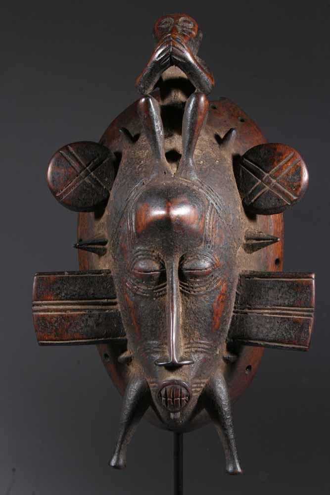 masque africain senoufo