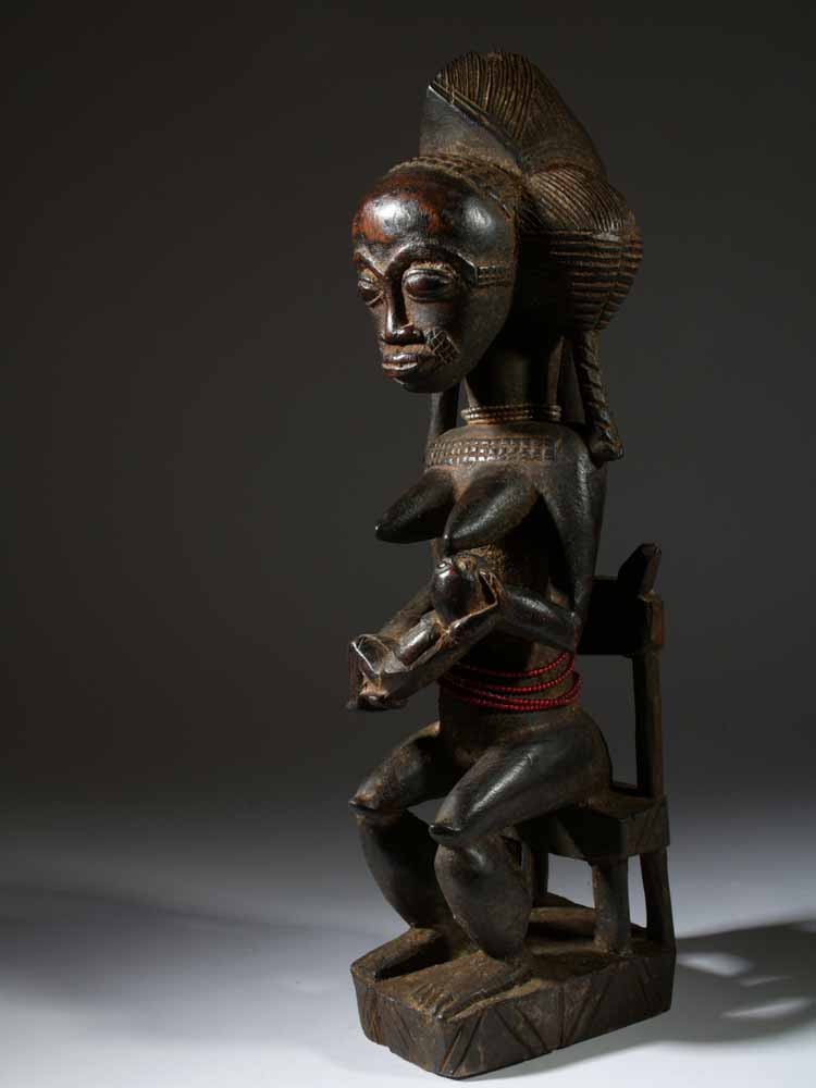 statue africaine metal